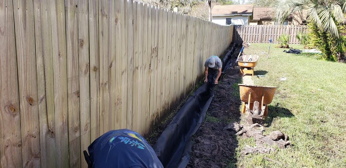 French Drain At Catch Basin