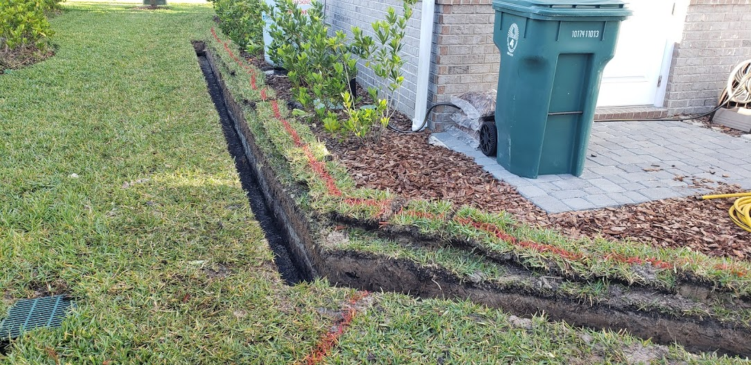 Drainage Project With Sump Pump And Catch Basins