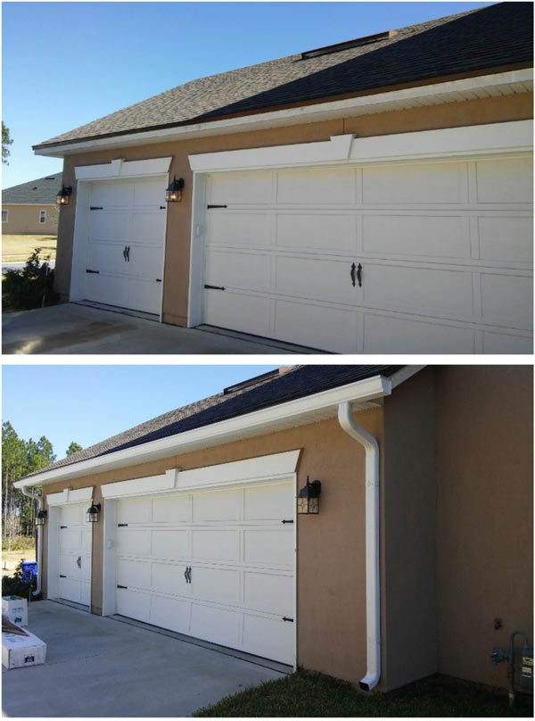 Before and After of Seamless Gutter Installation